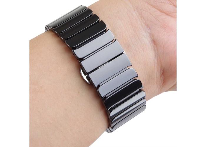 Браслет керамический для Apple Watch 42/44 мм, чёрный цвет