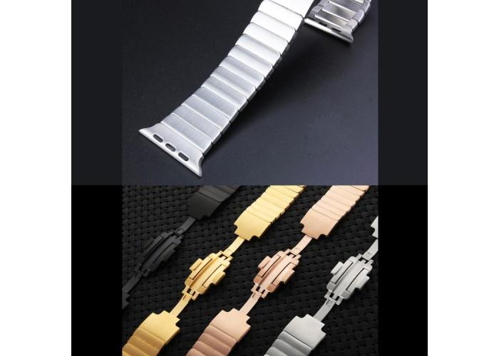 Браслет блочный из нержавеющей стали для Apple Watch 38/40 мм, серебристый цвет