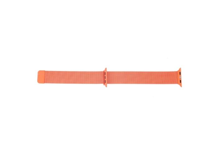 Браслет миланский сетчатый для Apple Watch 38/40 мм, оранжевый цвет