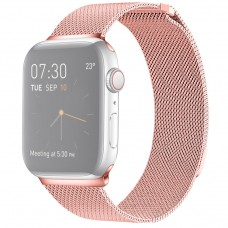 Браслет миланский сетчатый для Apple Watch 38/40 мм, розовый цвет