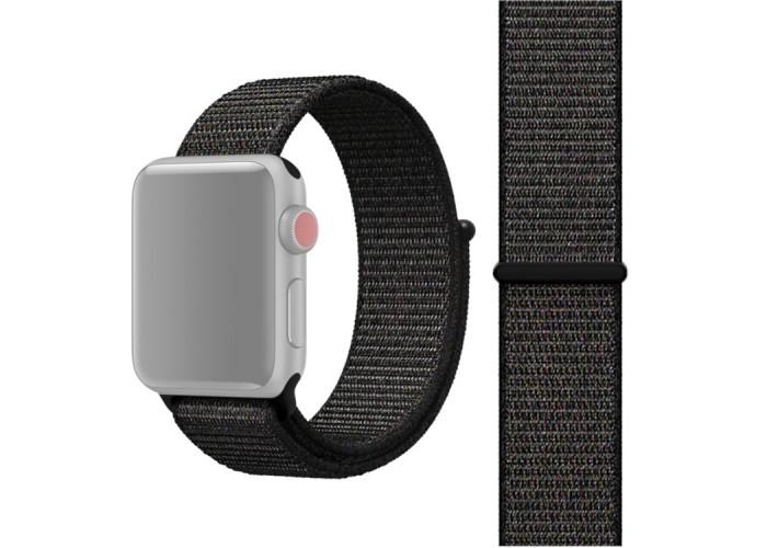 Ремешок из нейлона с застёжкой-липучкой для Apple Watch 42/44 мм, чёрный цвет