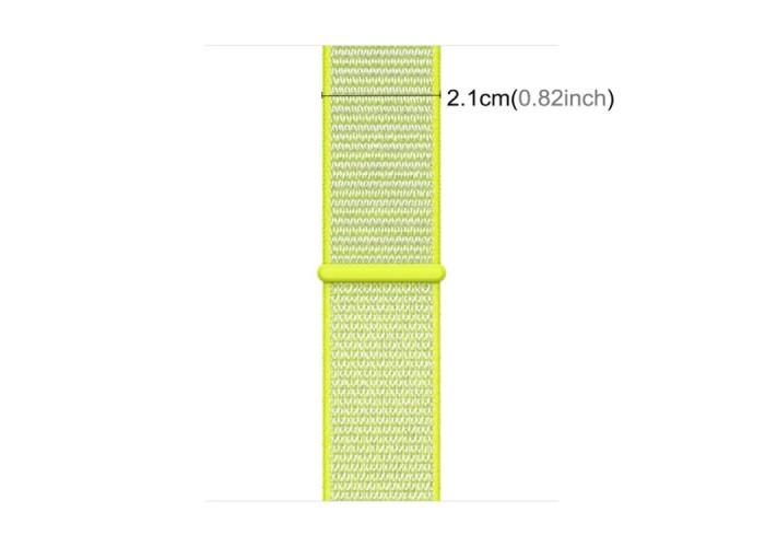 Ремешок из нейлона с застёжкой-липучкой для Apple Watch 42/44 мм, светло-салатовый цвет