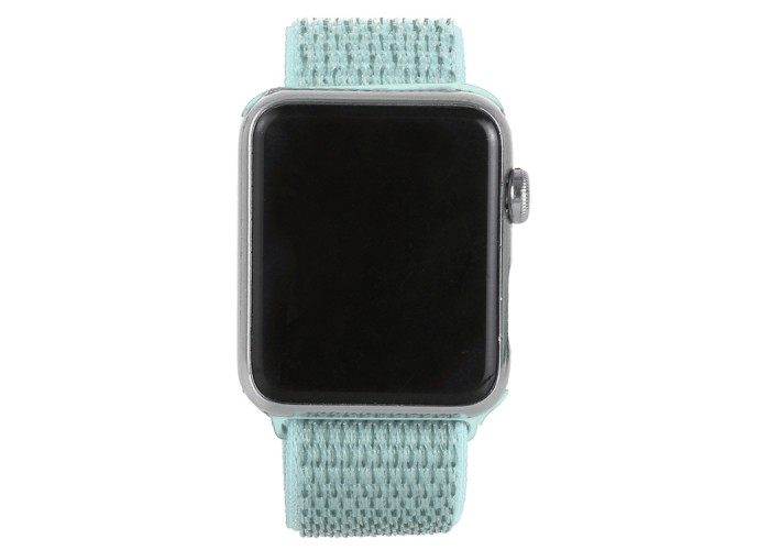 Ремешок из нейлона с застёжкой-липучкой для Apple Watch 42/44 мм, мятный цвет