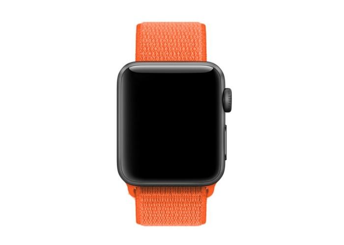 Ремешок из нейлона с застёжкой-липучкой для Apple Watch 38/40 мм, оранжевый цвет