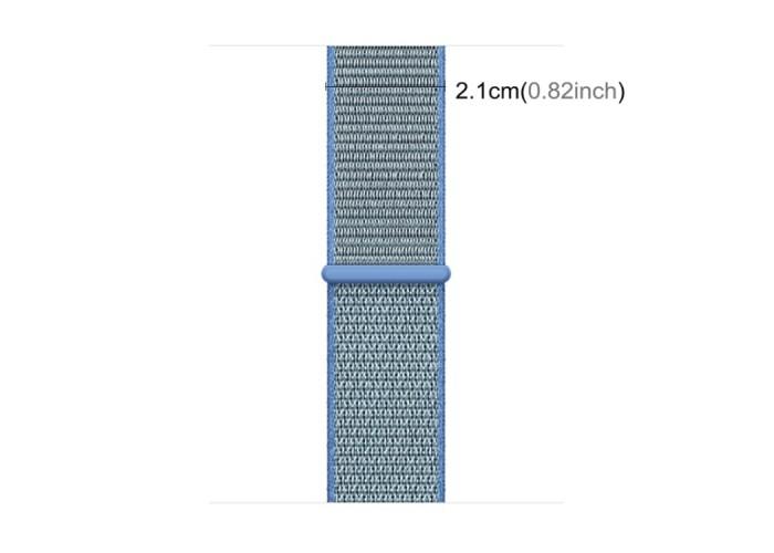 Ремешок из нейлона с застёжкой-липучкой для Apple Watch 38/40 мм, голубой цвет