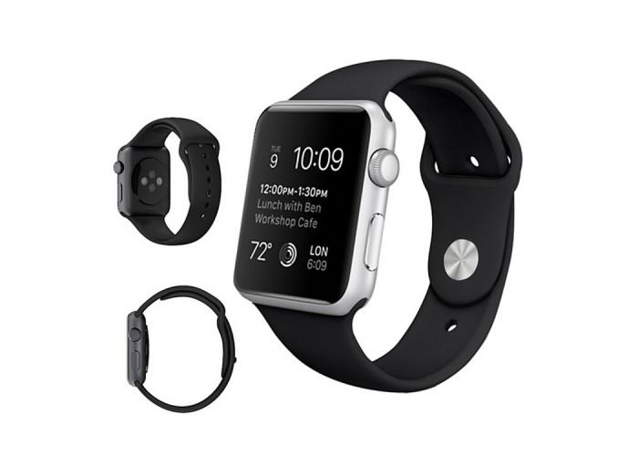 Ремешок спортивный для Apple Watch 42/44 мм, чёрный цвет