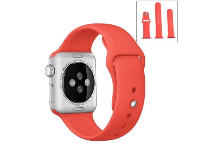 Ремешок спортивный для Apple Watch 38/40 мм, коралловый цвет