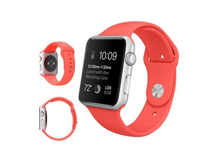 Ремешок спортивный для Apple Watch 42/44 мм, коралловый цвет