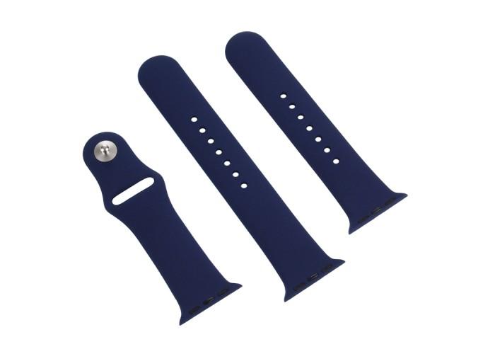 Ремешок спортивный для Apple Watch 38/40 мм, тёмно-синий цвет