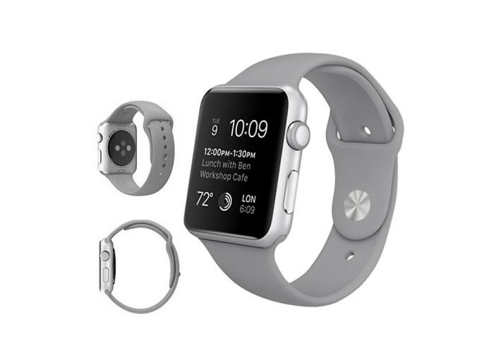 Ремешок спортивный для Apple Watch 42/44 мм, серый цвет