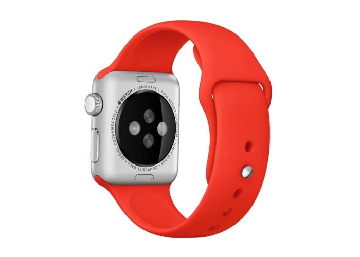 Ремешок спортивный для Apple Watch 42/44 мм, красный цвет