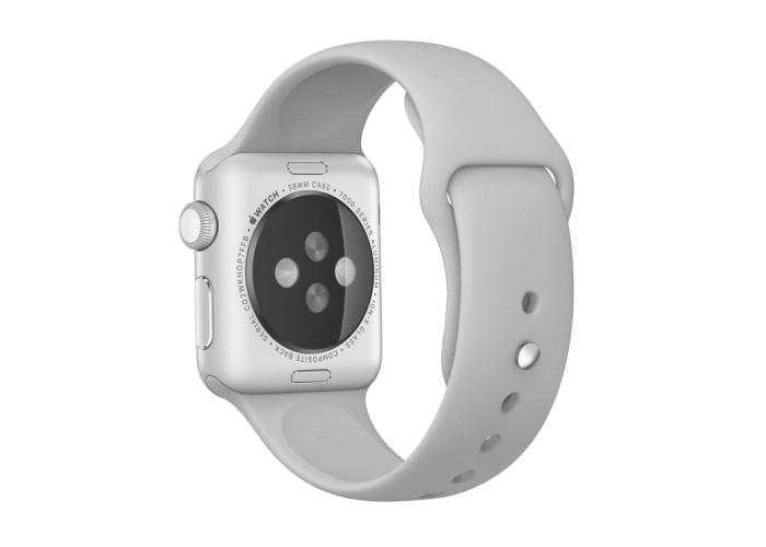 Ремешок спортивный для Apple Watch 42/44 мм, серебристый цвет