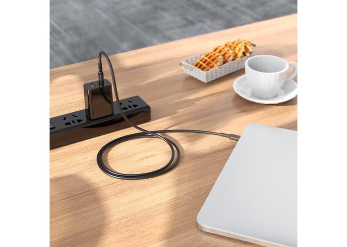 Кабель Hoco X62 USB-C/USB-C PD 100W (1.5 м), чёрный цвет