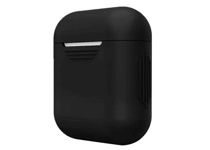 Чехол силиконовый для AirPods 1/2, чёрный цвет