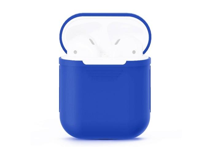 Чехол силиконовый для AirPods 1/2, синий цвет