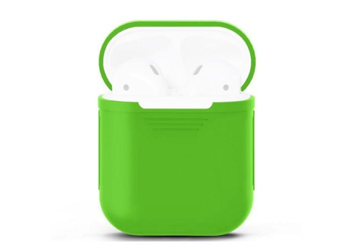 Чехол силиконовый для AirPods 1/2, салатовый цвет