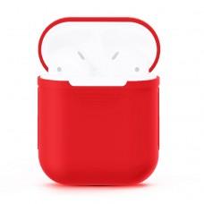 Чехол силиконовый для AirPods 1/2, красный цвет