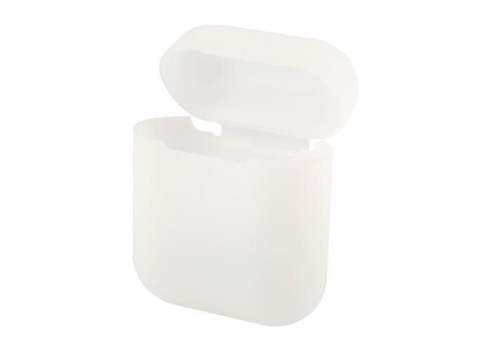 Чехол силиконовый для AirPods 1/2, прозрачный