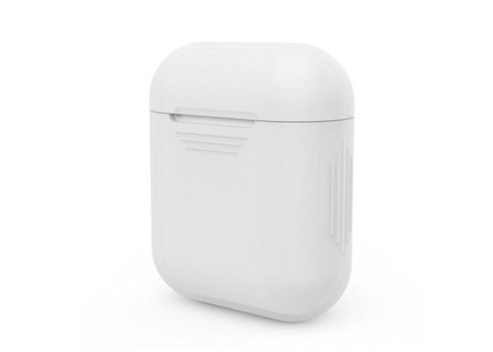 Чехол силиконовый для AirPods 1/2, белый цвет