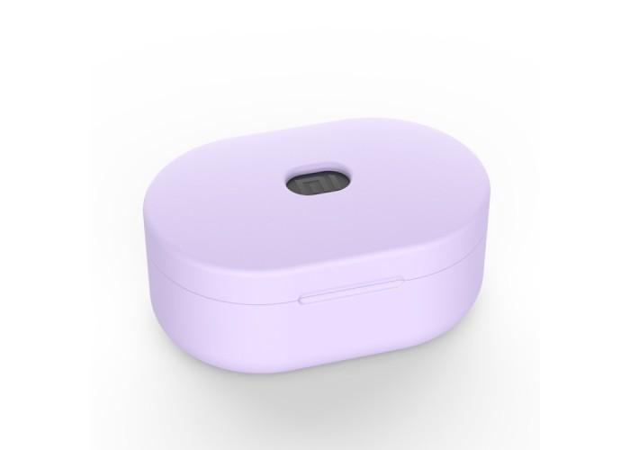 Чехол силиконовый для Redmi AirDots, сиреневый цвет
