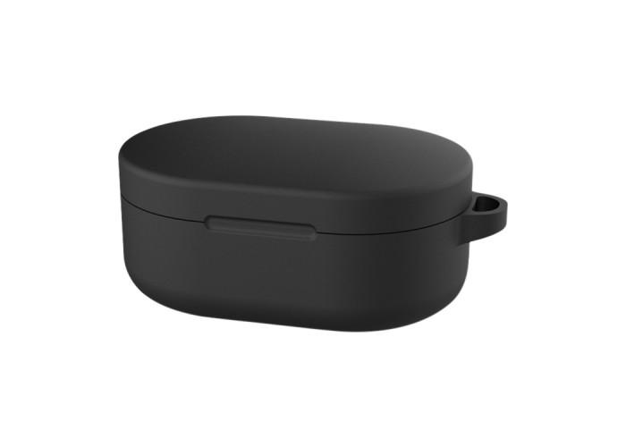 Чехол силиконовый для Redmi AirDots и Xiaomi AirDots Youth Edition, чёрный цвет