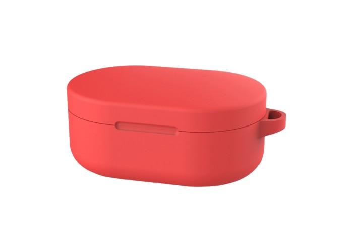 Чехол силиконовый для Redmi AirDots и Xiaomi AirDots Youth Edition, красный цвет