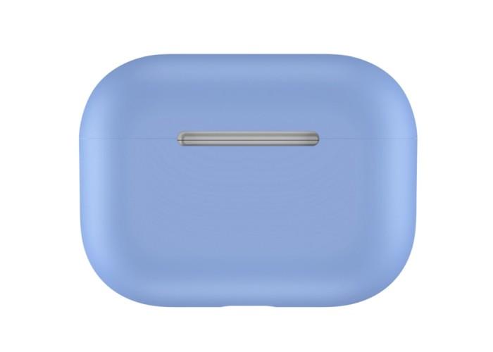 Чехол силиконовый для AirPods Pro, тёмно-голубой цвет