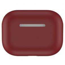 Чехол силиконовый для AirPods Pro, бордовый цвет