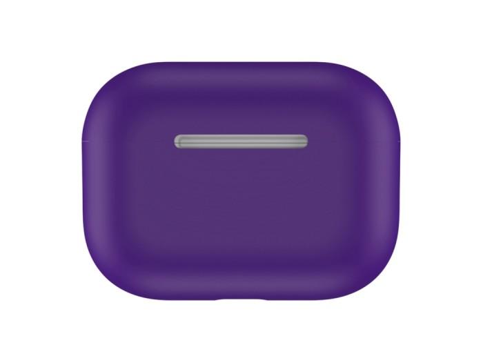 Чехол силиконовый для AirPods Pro, фиолетовый цвет