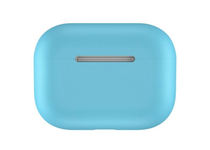 Чехол силиконовый для AirPods Pro, голубой цвет