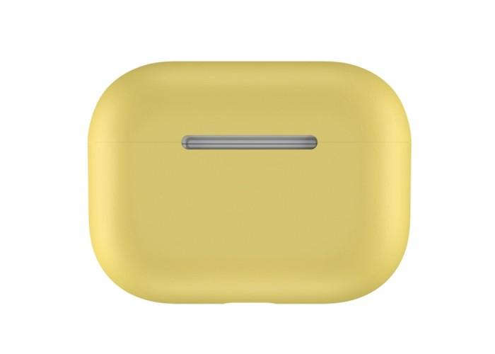 Чехол силиконовый для AirPods Pro, жёлтый цвет