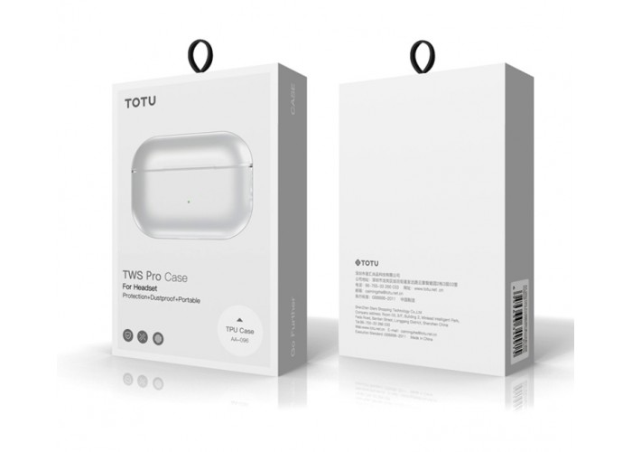 Чехол Totudesign TWS Pro Case для AirPods Pro, прозрачный