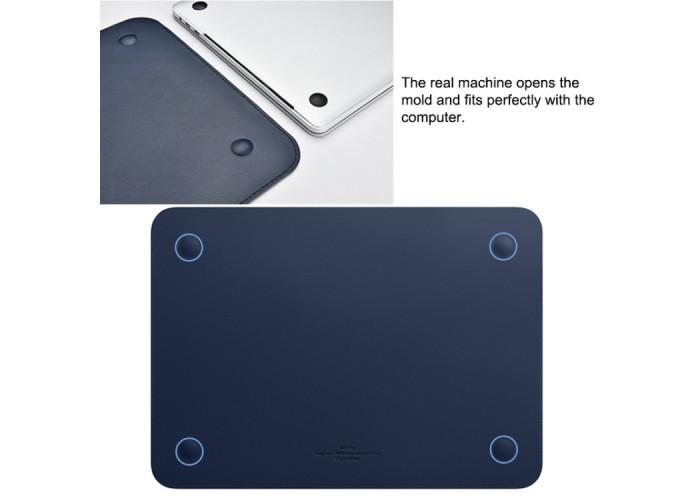 Чехол-папка Wiwu Skin Pro II для MacBook Pro 15 дюймов, синий цвет