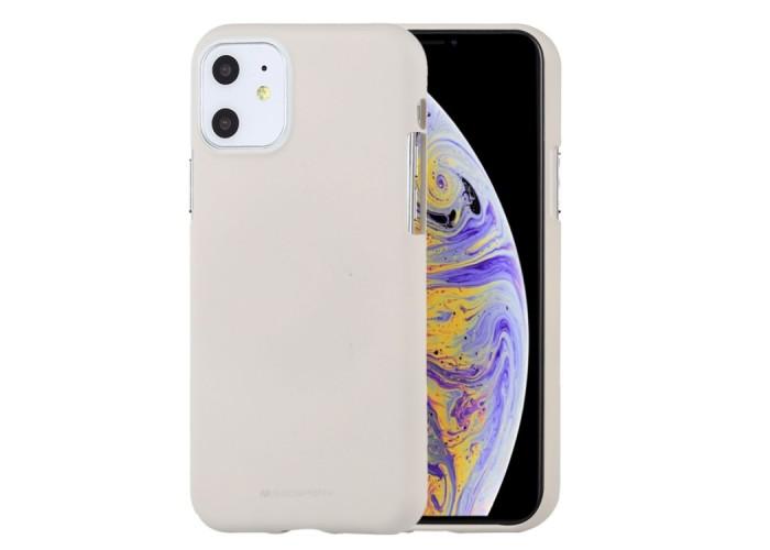 Чехол Mercury Goospery Soft Feeling для iPhone 11 Pro, бежевый цвет