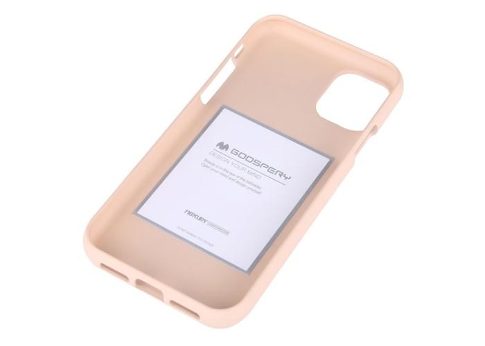 Чехол Mercury Goospery Soft Feeling для iPhone 11, абрикосовый цвет