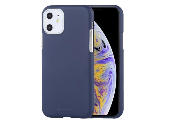 Чехол Mercury Goospery Soft Feeling для iPhone 11, тёмно-синий цвет