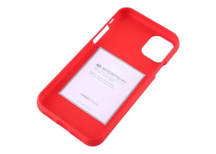 Чехол Mercury Goospery Soft Feeling для iPhone 11, красный цвет
