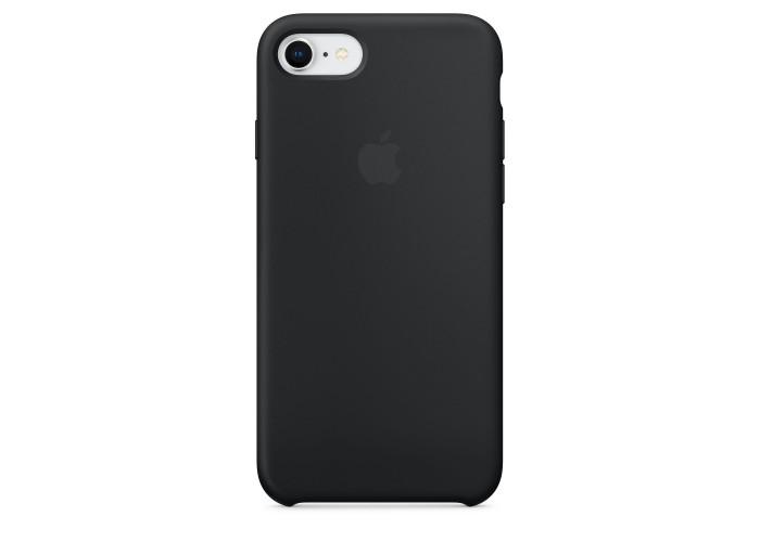 Чехол силиконовый Silicone Case для iPhone 7/8, чёрный цвет