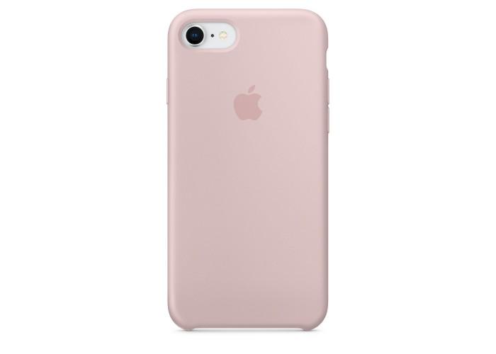 Чехол силиконовый Silicone Case для iPhone 7/8, цвет «розовый песок»
