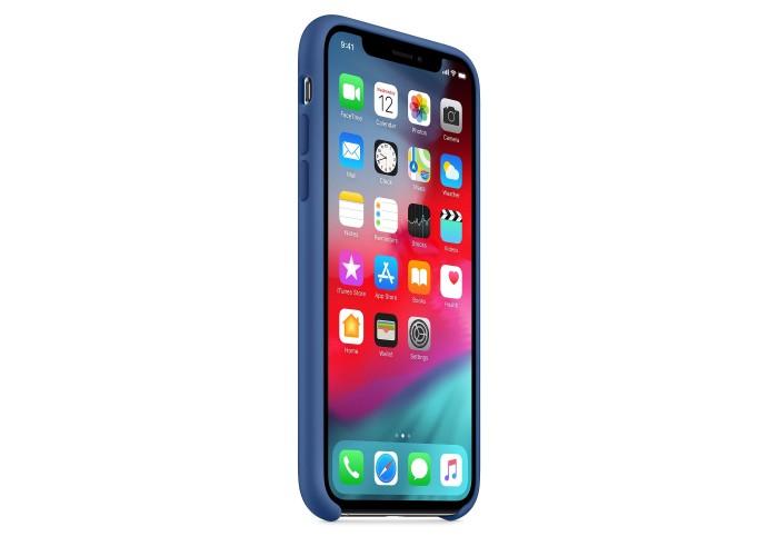 Чехол силиконовый Silicone Case для iPhone XS, цвет «голландский синий»