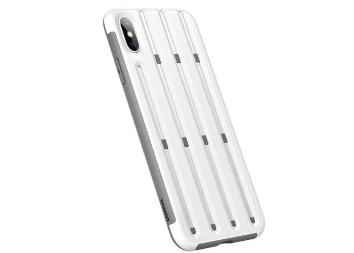 Чехол Baseus Cycling Helmet Case для iPhone XS Max, белый цвет