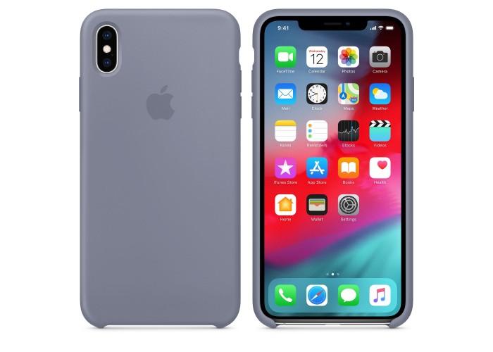 Чехол силиконовый Silicone Case для iPhone XS Max, цвет «тёмная лаванда»