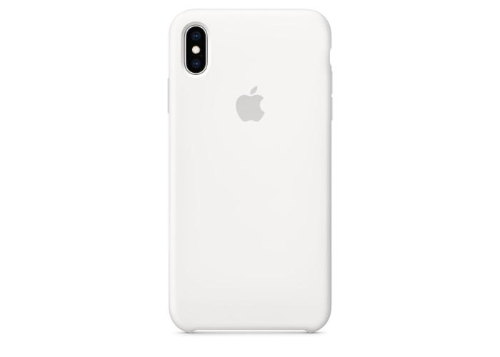 Чехол силиконовый Silicone Case для iPhone XS Max, белый цвет