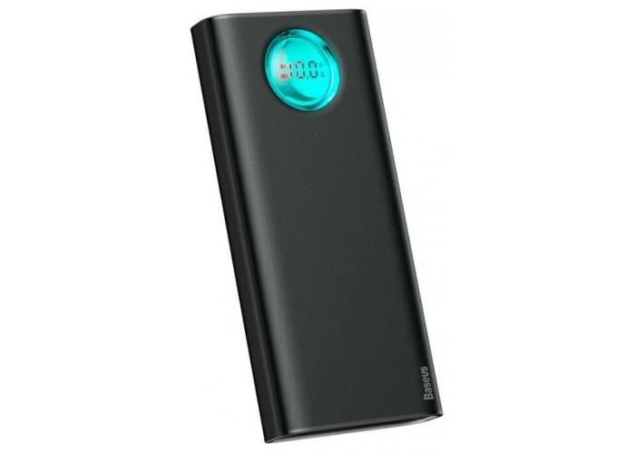Внешний аккумулятор Baseus Amblight Quick Charge Digital Display Power Bank PD3.0+QC3.0 30000mAh, чёрный цвет