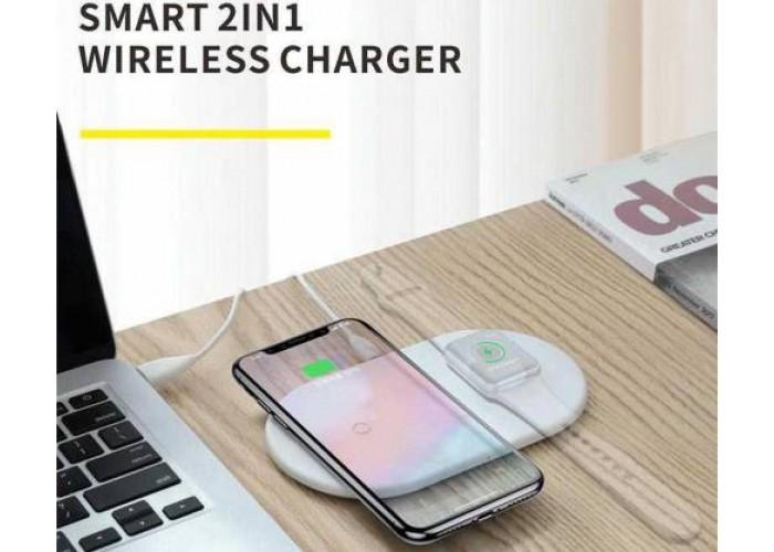 Беспроводная сетевая зарядка Baseus Smart 2 in 1 Wireless Charger для iPhone и Apple Watch