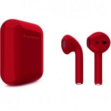 Apple AirPods 2 Color (без беспроводной зарядки чехла), глянцевый вишнёвый цвет