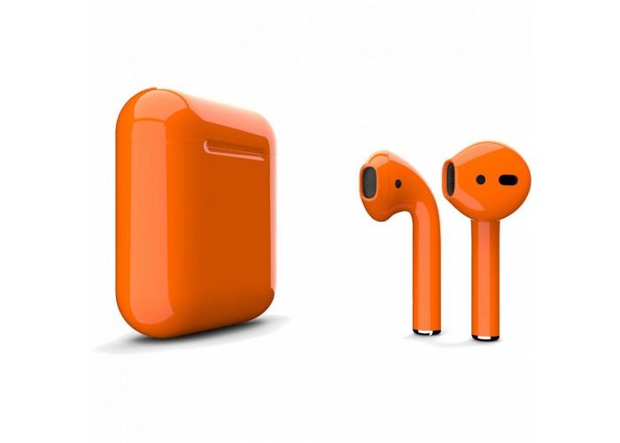 Apple AirPods 2 Color (беспроводная зарядка чехла), глянцевый оранжевый цвет