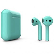 Apple AirPods 2 Color (без беспроводной зарядки чехла), глянцевый бирюзовый цвет