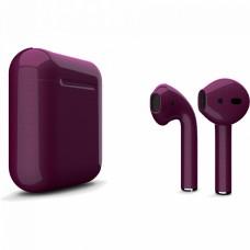 Apple AirPods 2 Color (без беспроводной зарядки чехла), глянцевый сливовый цвет