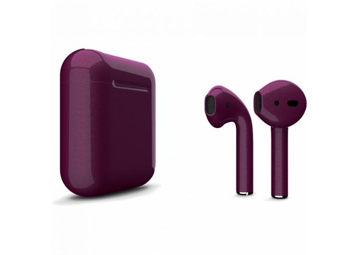 Apple AirPods 2 Color (беспроводная зарядка чехла), глянцевый сливовый цвет